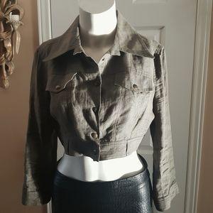 ❤Echo❤ Linen crop jacket